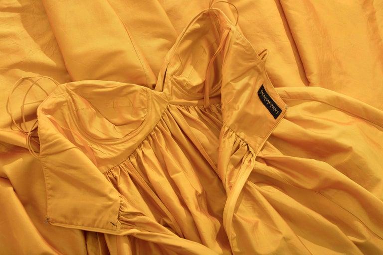 Donna Karan Silk Marigold Evening Dress, Circa 1980s For Sale 2
