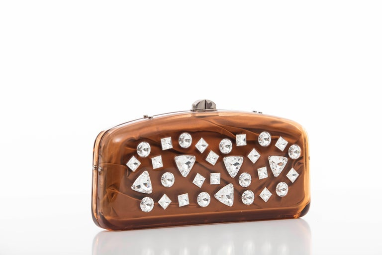 Tom Ford For Yves Saint Laurent Runway Copper Lucite Crystal Clutch, Fall 2003 2