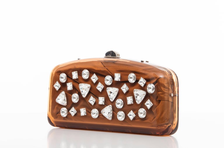 Tom Ford For Yves Saint Laurent Runway Copper Lucite Crystal Clutch, Fall 2003 5