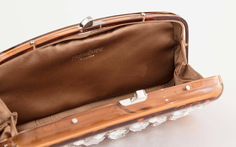 Tom Ford For Yves Saint Laurent Runway Copper Lucite Crystal Clutch, Fall 2003 7