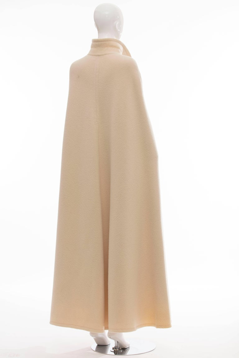 Beige Christian Dior Haute Couture By Marc Bohan Cream Wool Cape, Autumn - Winter 1966 For Sale