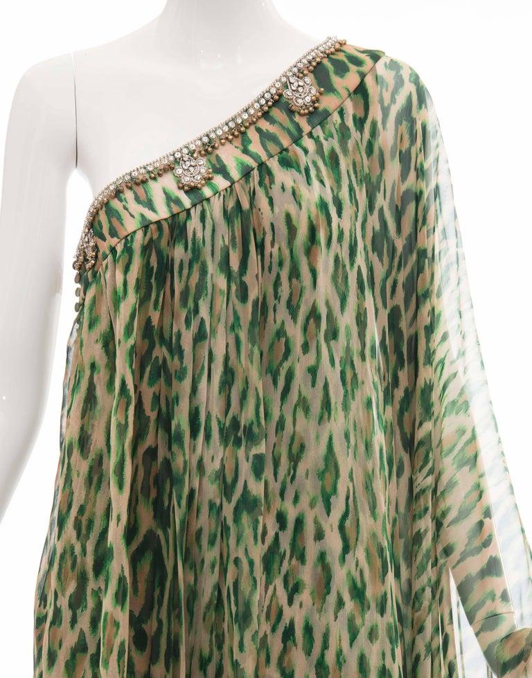 John Galliano for Christian Dior Runway Leopard Silk Evening Dress, Resort 2008 5