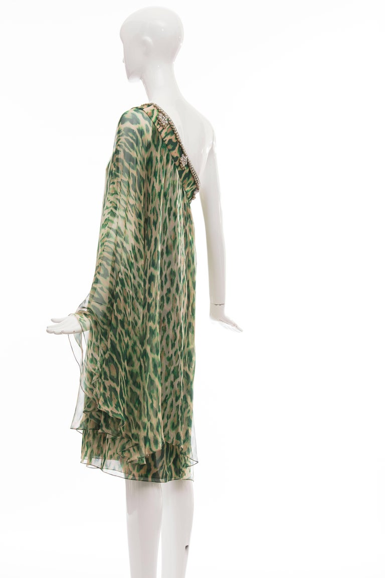John Galliano for Christian Dior Runway Leopard Silk Evening Dress, Resort 2008 6