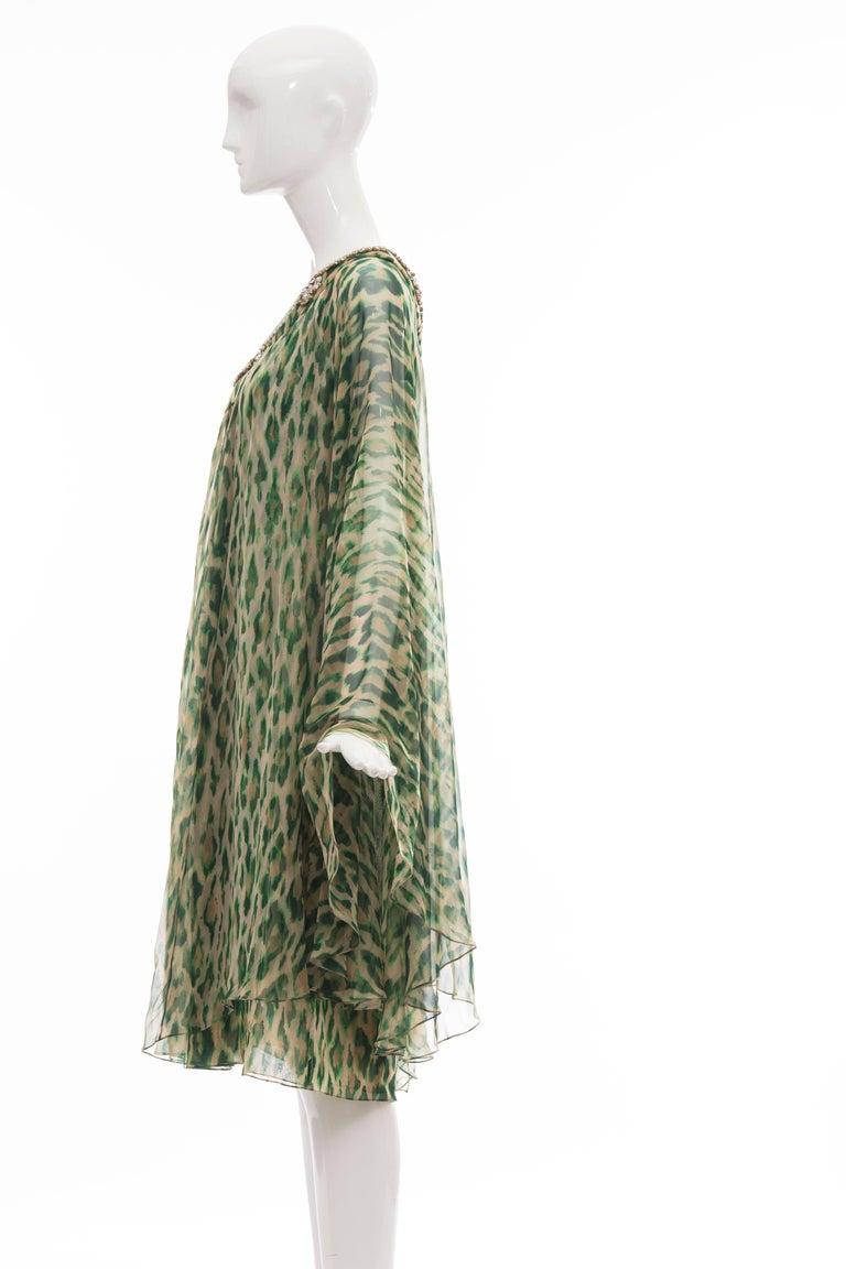 John Galliano for Christian Dior Runway Leopard Silk Evening Dress, Resort 2008 7