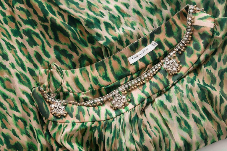 John Galliano for Christian Dior Runway Leopard Silk Evening Dress, Resort 2008 10