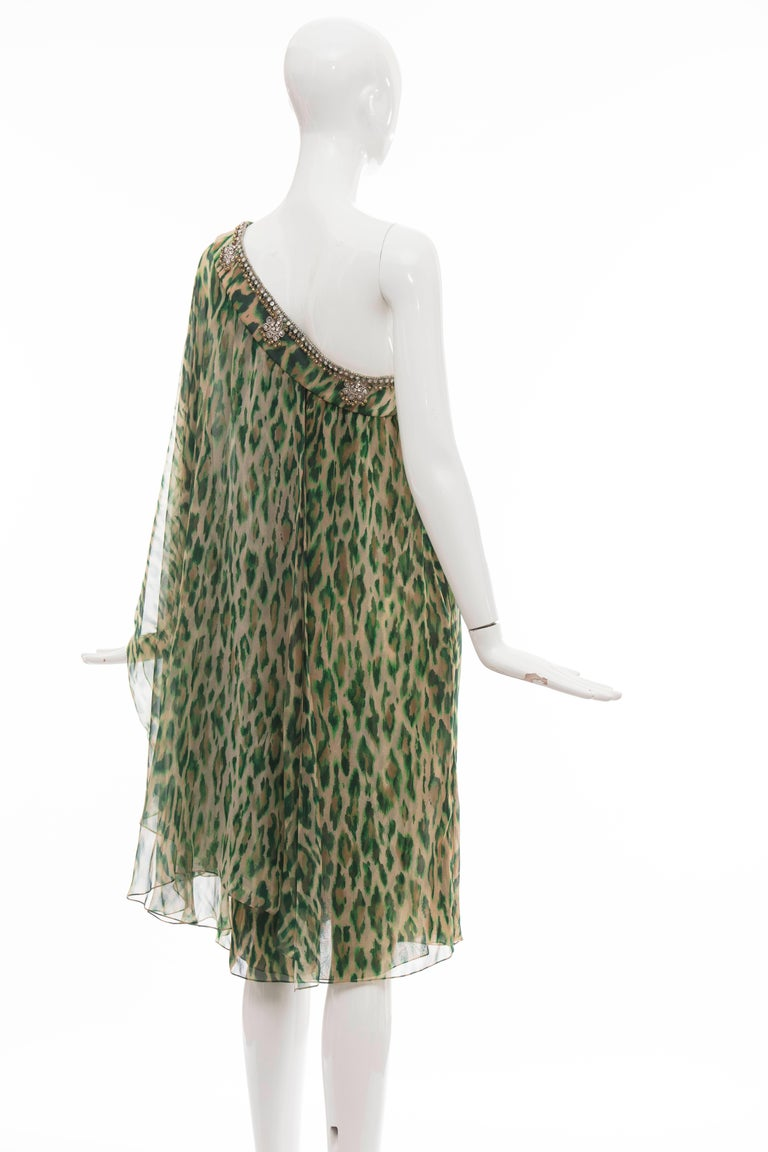 John Galliano for Christian Dior Runway Leopard Silk Evening Dress, Resort 2008 9