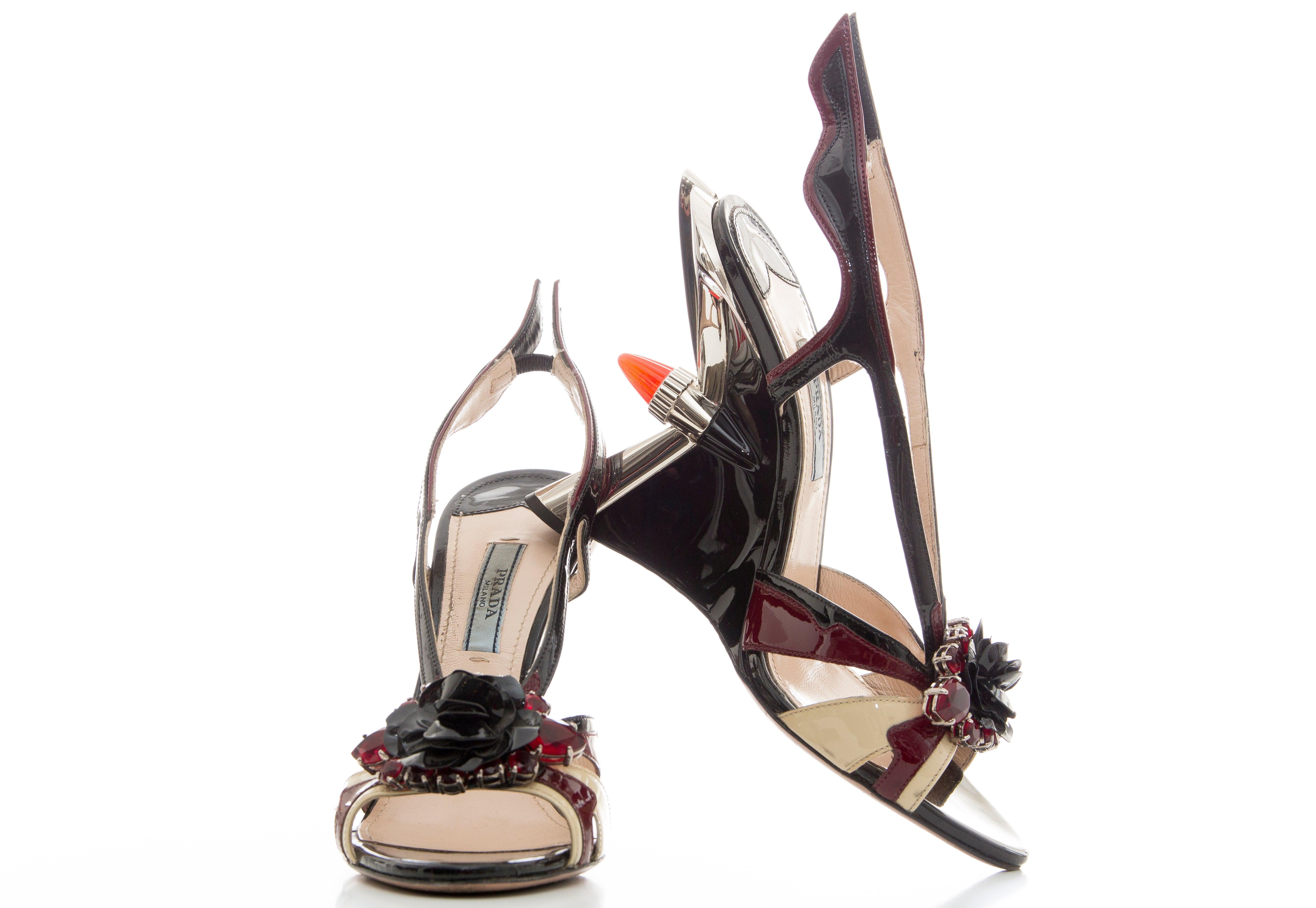 8b2e838b3561 Prada Jewel Taillight Wedge Sandal