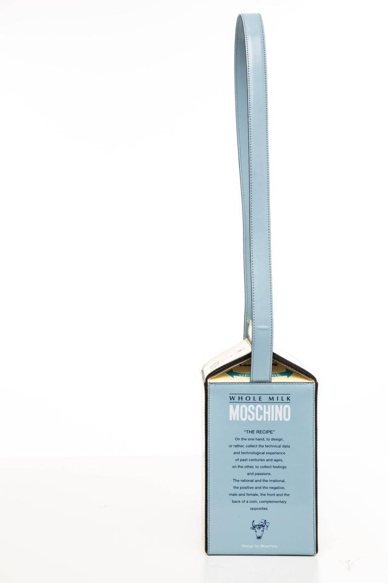Moschino Milk Carton Handbag, Circa 1990's In Excellent Condition For Sale In Cincinnati, OH