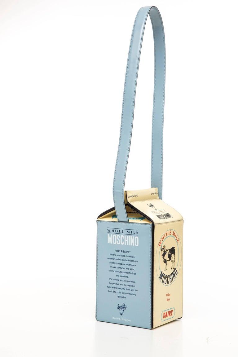 Women's Moschino Milk Carton Handbag, Circa 1990's For Sale