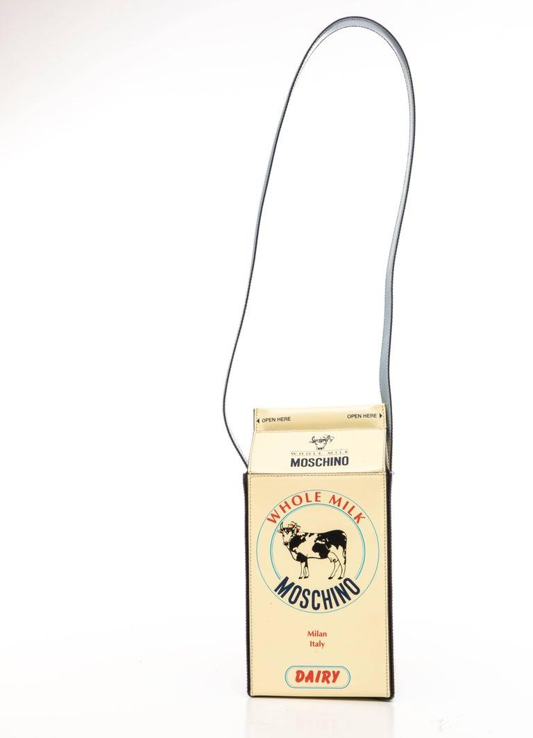 Moschino Milk Carton Handbag, Circa 1990's For Sale 1