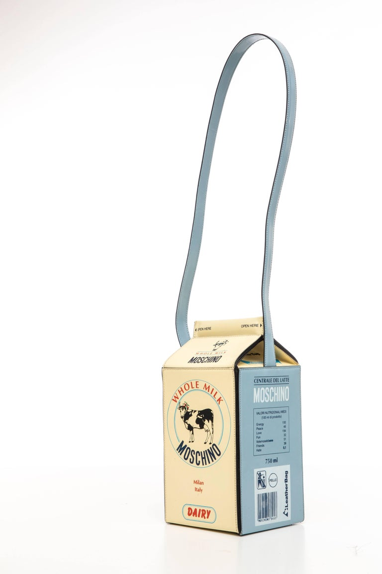 Moschino Milk Carton Handbag, Circa 1990's For Sale 2