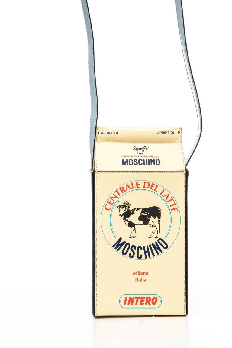 Moschino Milk Carton Handbag, Circa 1990's For Sale 3
