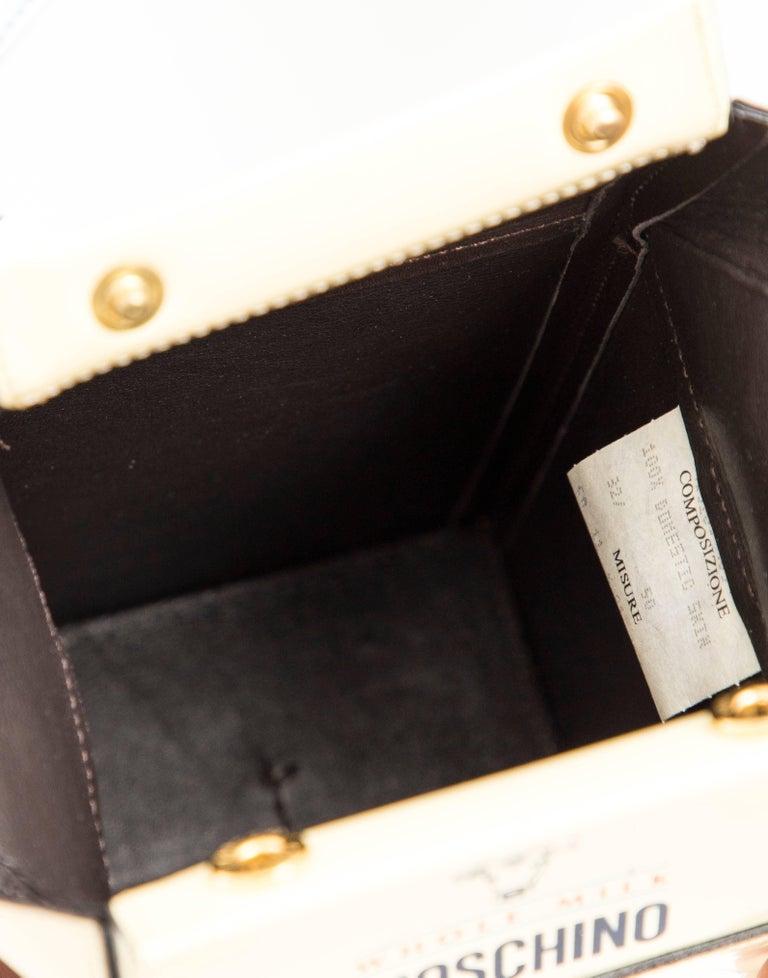 Moschino Milk Carton Handbag, Circa 1990's For Sale 5