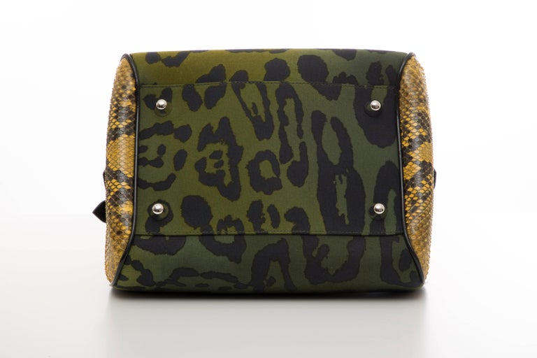 John Galliano Christian Dior Runway Leopard Python Gambler Handbag, Fall 2004 For Sale 4