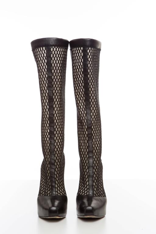 Versace Black Woven Mesh Boots, Autumn - Winter 2012 9