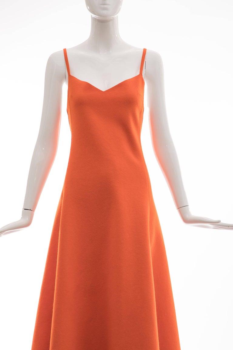 Ralph Lauren Collection Wool Felt Evening Dress, Fall 1999 In Good Condition For Sale In Cincinnati, OH