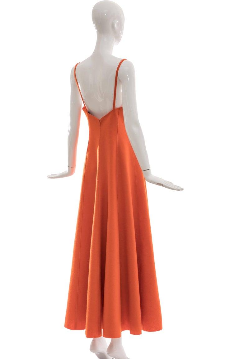 Women's Ralph Lauren Collection Wool Felt Evening Dress, Fall 1999 For Sale