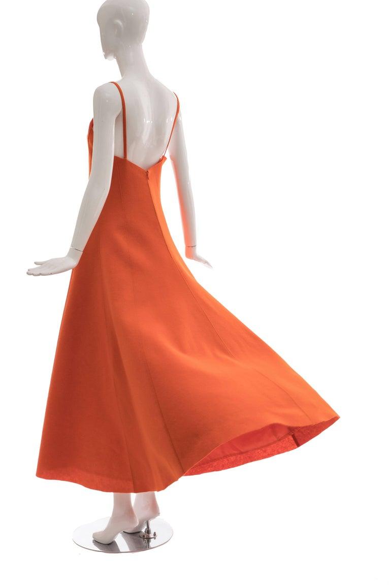 Ralph Lauren Collection Wool Felt Evening Dress, Fall 1999 For Sale 2