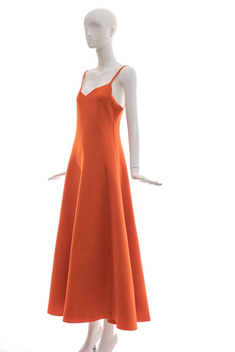 Ralph Lauren Collection Wool Felt Evening Dress, Fall 1999 For Sale 3