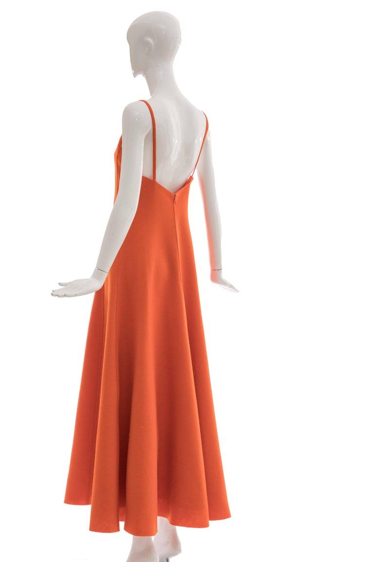 Ralph Lauren Collection Wool Felt Evening Dress, Fall 1999 For Sale 4