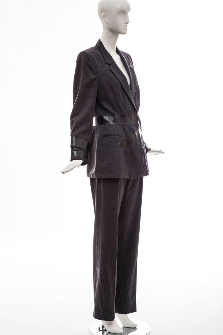 Black Maison Martin Margiela Artisanal Charcoal Grey Duct Tape Pantsuit, Fall 2009 For Sale