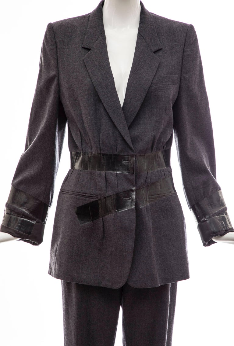 Maison Martin Margiela Artisanal Charcoal Grey Duct Tape Pantsuit, Fall 2009 In Excellent Condition For Sale In Cincinnati, OH
