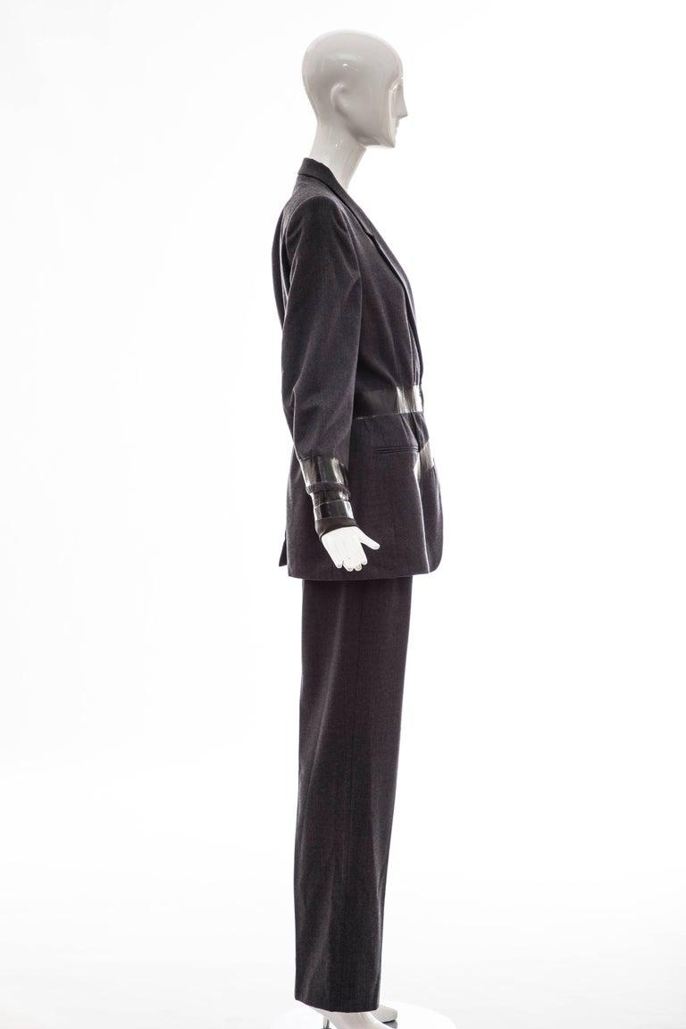 Women's Maison Martin Margiela Artisanal Charcoal Grey Duct Tape Pantsuit, Fall 2009 For Sale