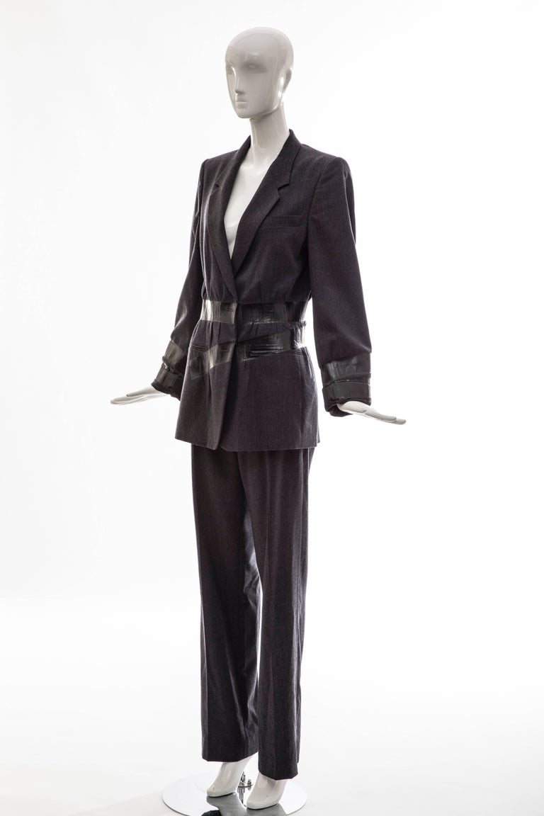 Maison Martin Margiela Artisanal Charcoal Grey Duct Tape Pantsuit, Fall 2009 For Sale 2