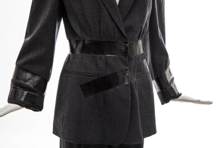 Maison Martin Margiela Artisanal Charcoal Grey Duct Tape Pantsuit, Fall 2009 For Sale 3