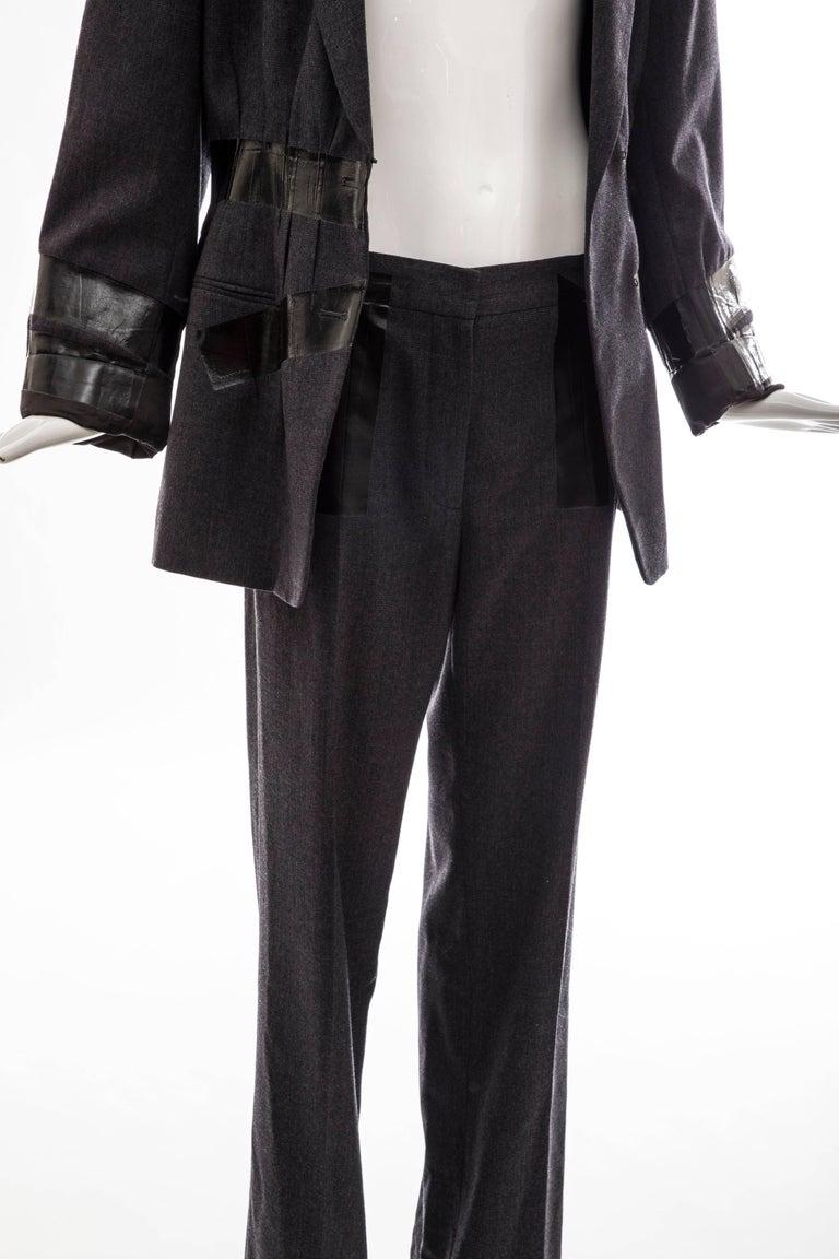 Maison Martin Margiela Artisanal Charcoal Grey Duct Tape Pantsuit, Fall 2009 For Sale 4