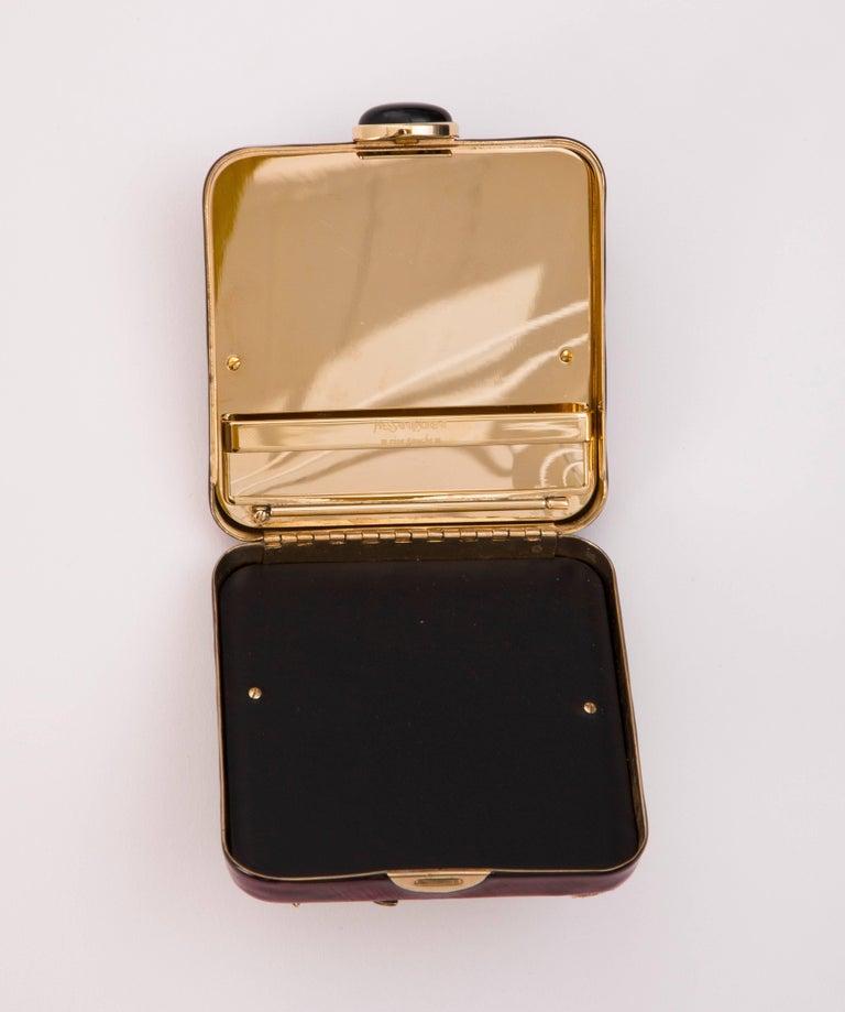 Brown Tom Ford For Yves Saint Laurent Enameled And Crystal Cigarette Case, Spring 2004 For Sale