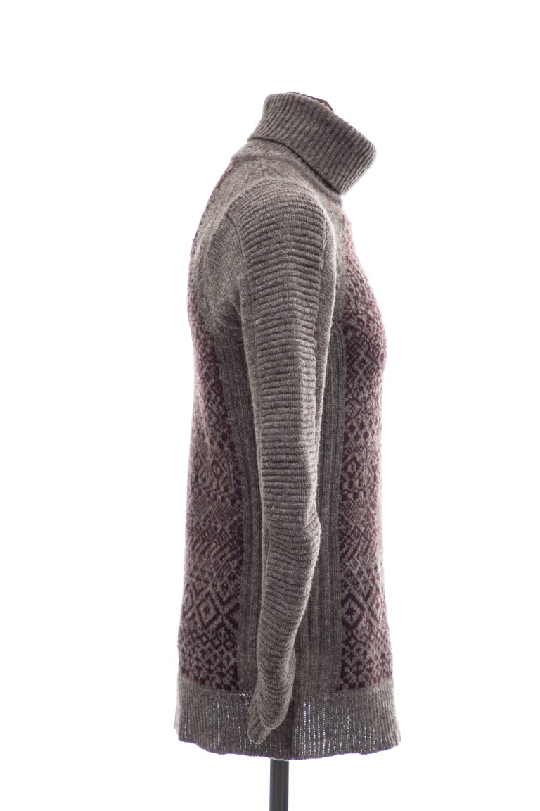 Men's Raf Simons History of My World Wool Knit Sweater, Autumn - Winter 2005 - 2006 For Sale