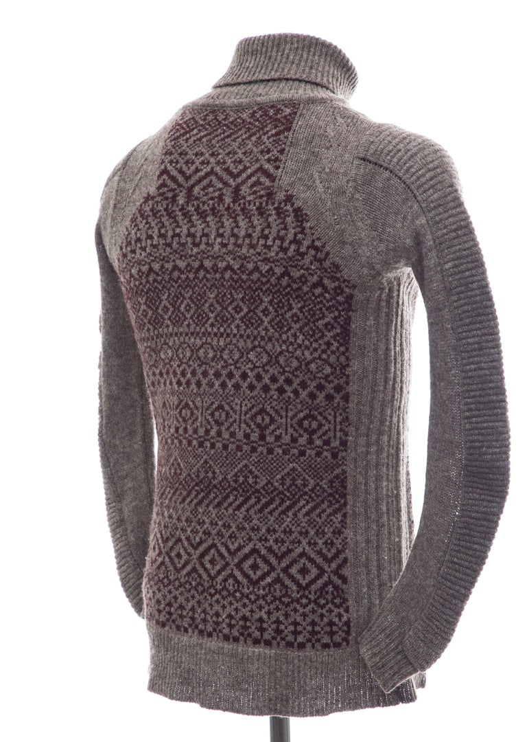 Raf Simons History of My World Wool Knit Sweater, Autumn - Winter 2005 - 2006 For Sale 1