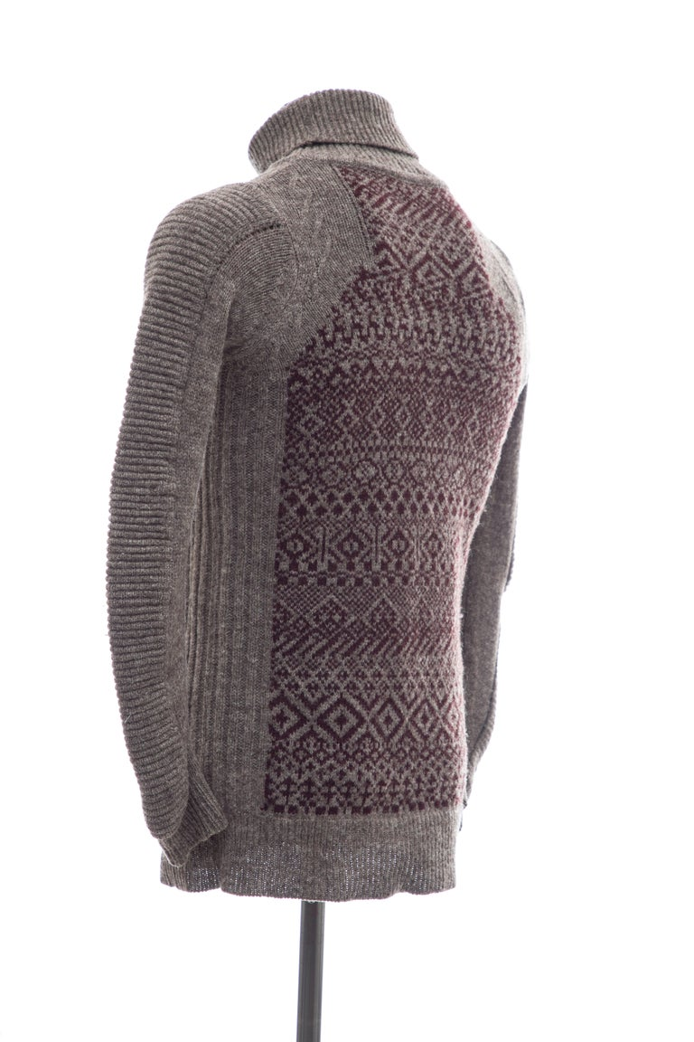 Raf Simons History of My World Wool Knit Sweater, Autumn - Winter 2005 - 2006 For Sale 2