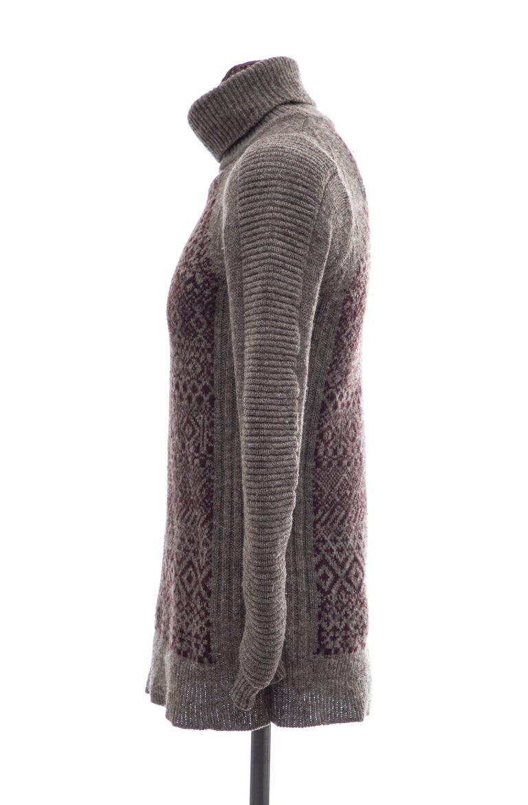 Raf Simons History of My World Wool Knit Sweater, Autumn - Winter 2005 - 2006 For Sale 3