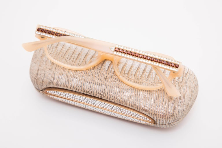 Judith Leiber Readers Reading Glasses With Crystal Case For Sale 4
