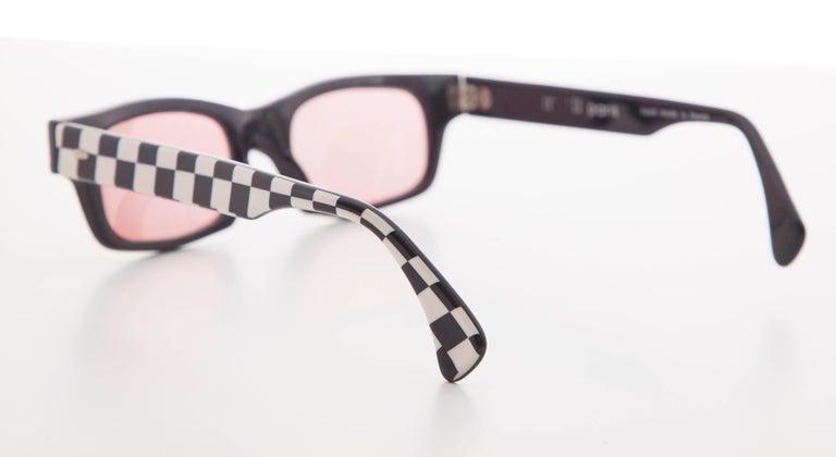 Alain Mikli Paris Checkerboard Sunglasses, Circa 1980s In Excellent Condition For Sale In Cincinnati, OH