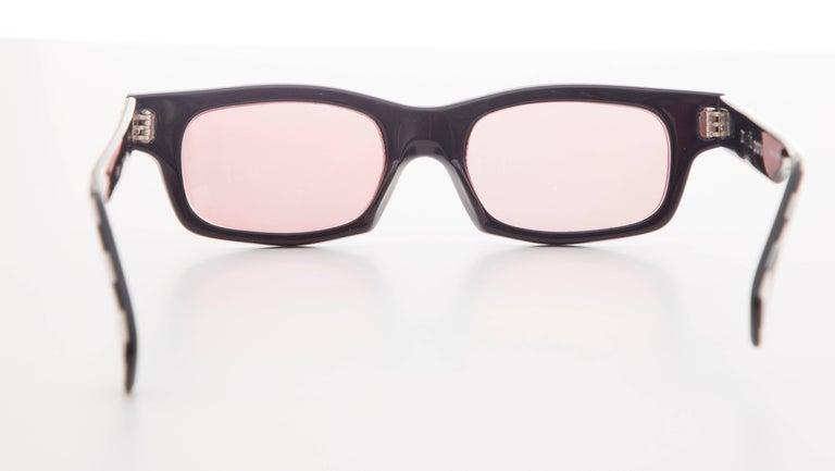 Women's or Men's Alain Mikli Paris Checkerboard Sunglasses, Circa 1980s For Sale