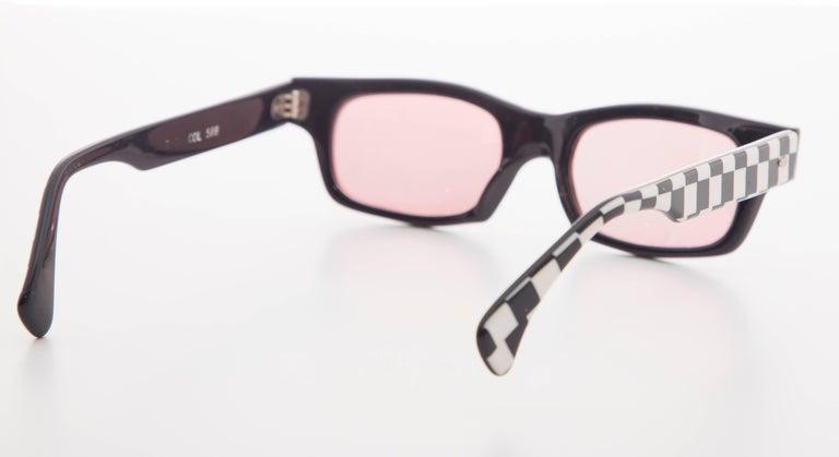 Alain Mikli Paris Checkerboard Sunglasses, Circa 1980s For Sale 1