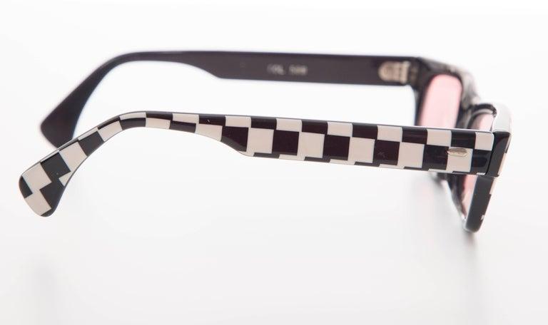 Alain Mikli Paris Checkerboard Sunglasses, Circa 1980s For Sale 2