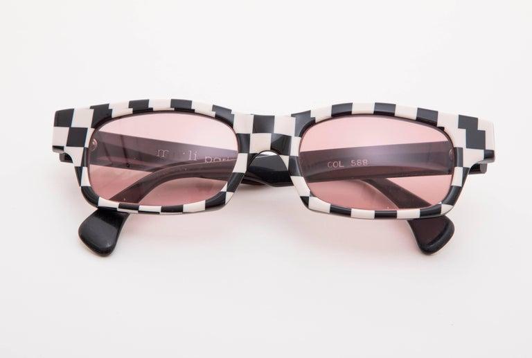 Alain Mikli Paris Checkerboard Sunglasses, Circa 1980s For Sale 4
