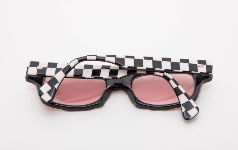 Alain Mikli Paris Checkerboard Sunglasses, Circa 1980s For Sale 5