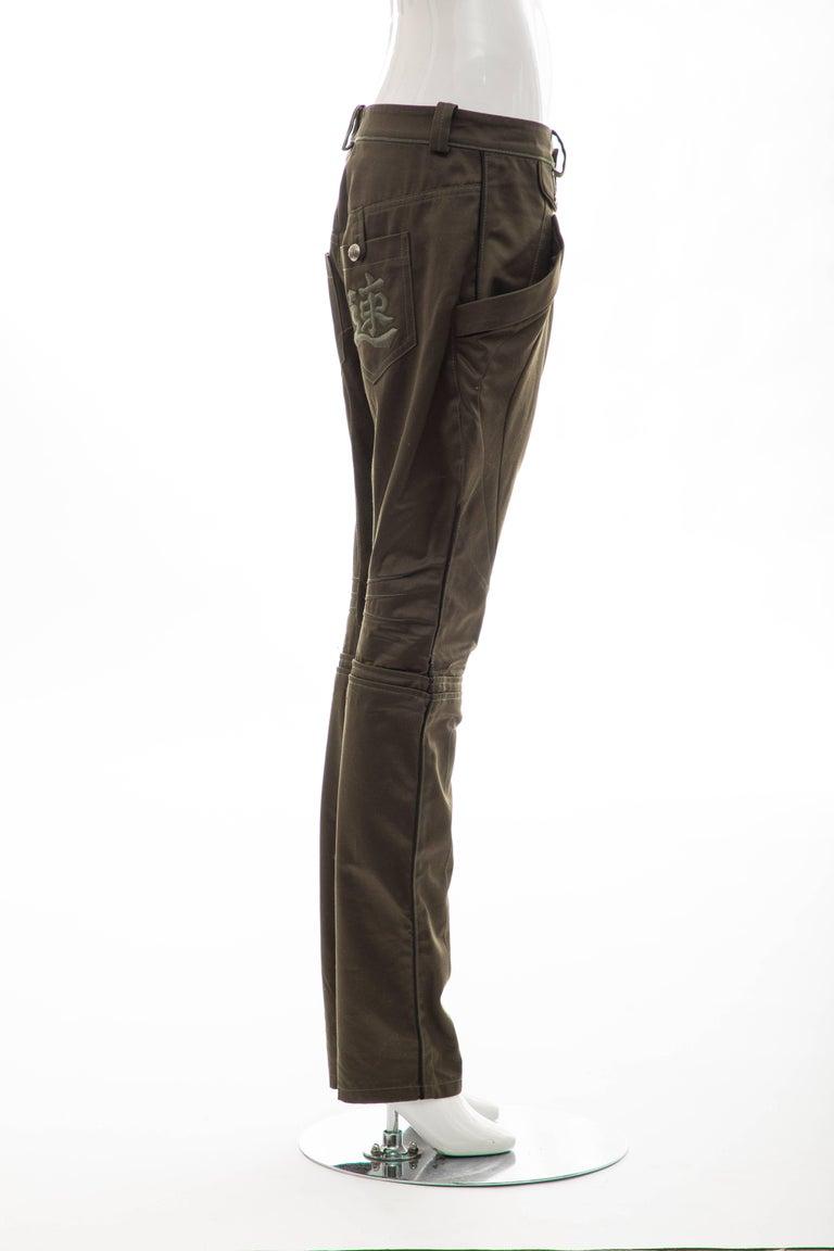 Black Nicolas Ghesquière for Balenciaga Runway Cotton Suede Pants, Fall 2007 For Sale
