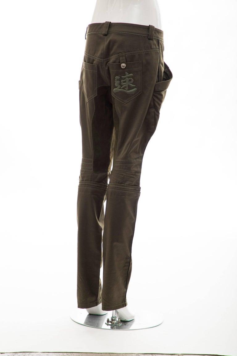 Women's Nicolas Ghesquière for Balenciaga Runway Cotton Suede Pants, Fall 2007 For Sale