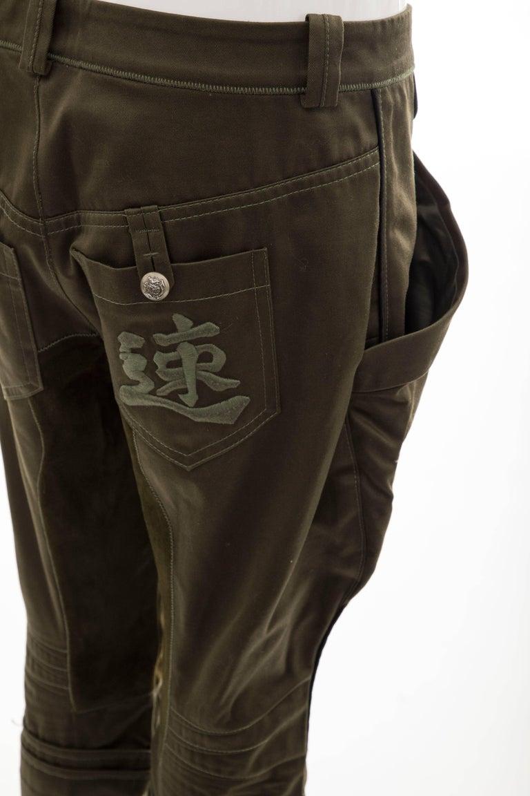 Nicolas Ghesquière for Balenciaga Runway Cotton Suede Pants, Fall 2007 For Sale 1