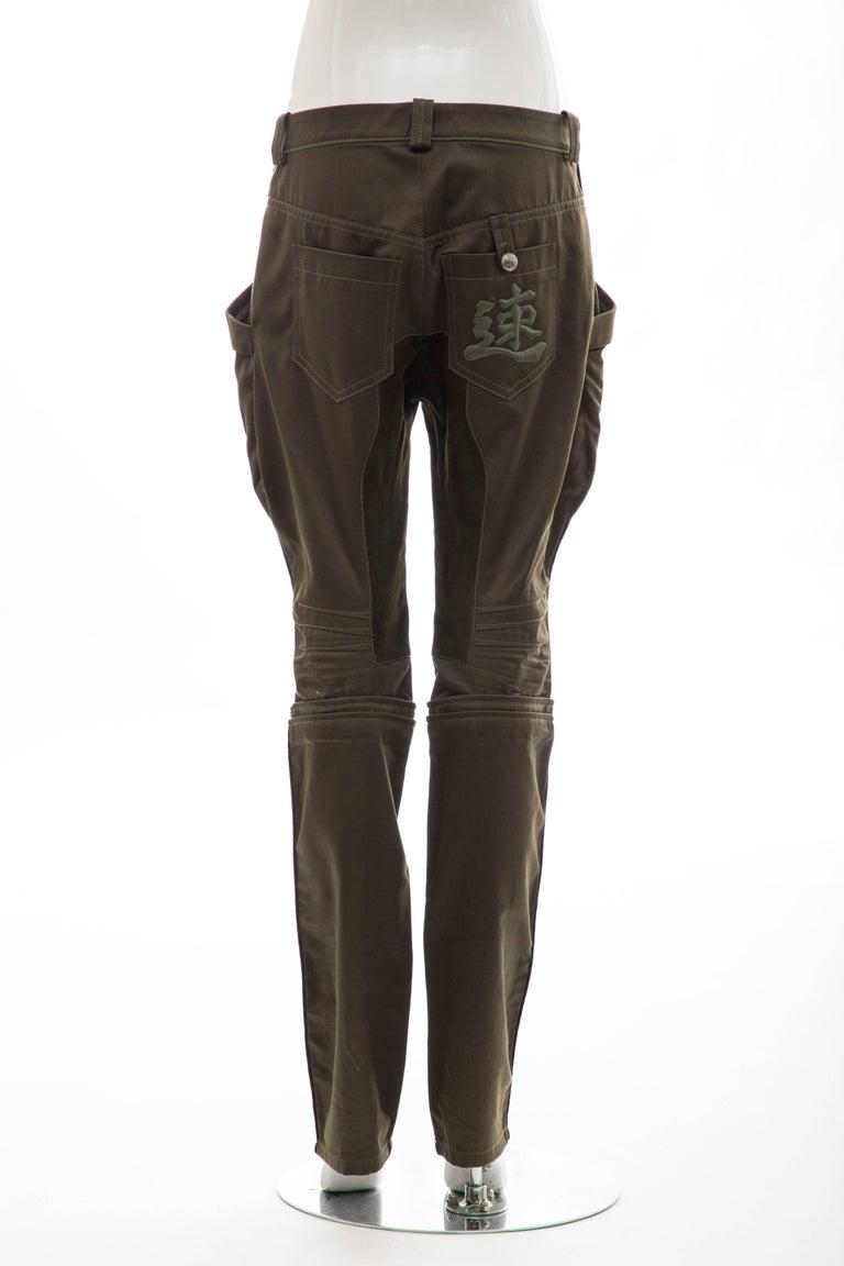 Nicolas Ghesquière for Balenciaga Runway Cotton Suede Pants, Fall 2007 For Sale 2