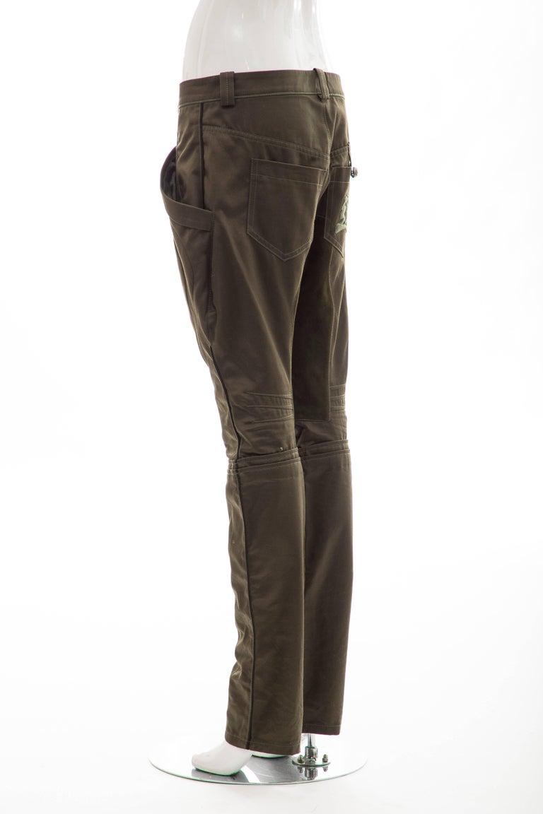 Nicolas Ghesquière for Balenciaga Runway Cotton Suede Pants, Fall 2007 For Sale 3