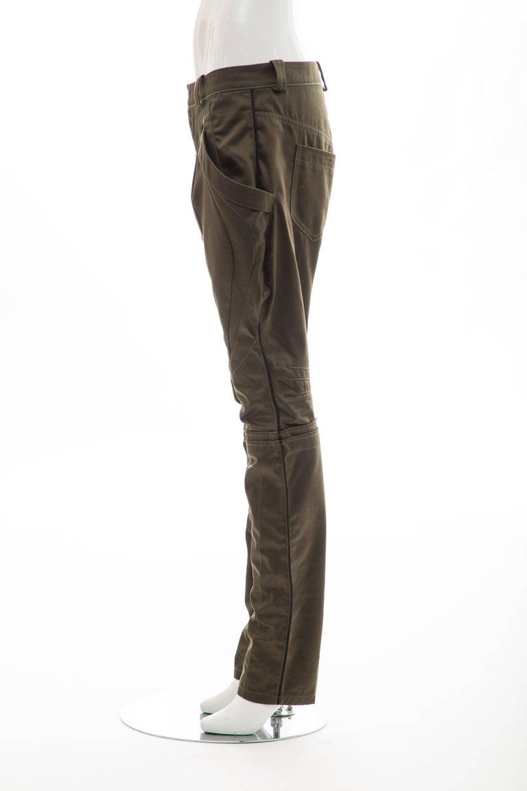 Nicolas Ghesquière for Balenciaga Runway Cotton Suede Pants, Fall 2007 For Sale 4