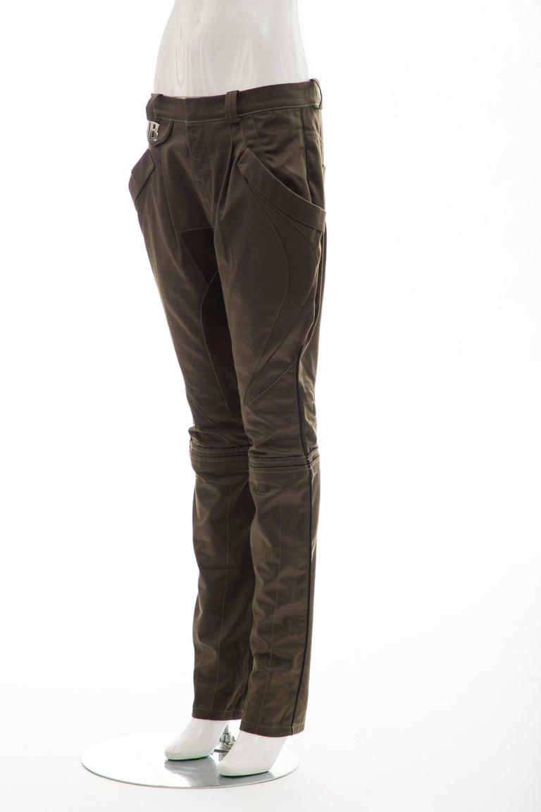 Nicolas Ghesquière for Balenciaga Runway Cotton Suede Pants, Fall 2007 For Sale 5