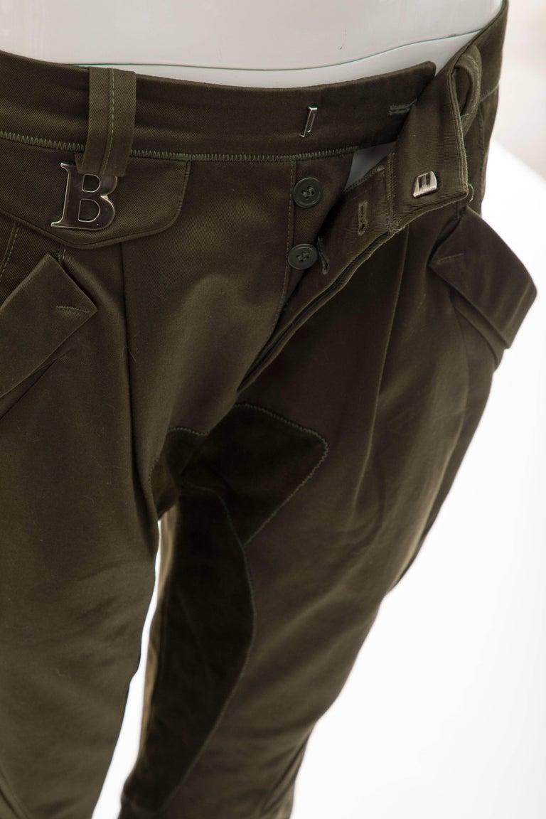 Nicolas Ghesquière for Balenciaga Runway Cotton Suede Pants, Fall 2007 For Sale 6